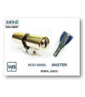 Cilindro Alta Seguridad, Perfil Suizo 4000Ω Master, KESO