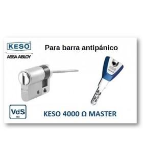 Cilindro Alta Seguridad Antipánico 4000Ω Master, Cromo,KESO