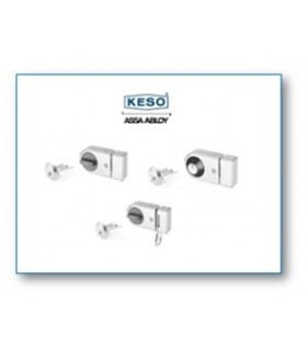 Cerradura de pestillo con cilindro 4000Ω Master, cromo, Keso