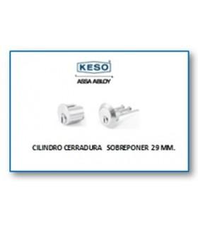 Cilindro Alta Seguridad Cerradura Sobreponer 4000Ω Master, Cromo,KESO