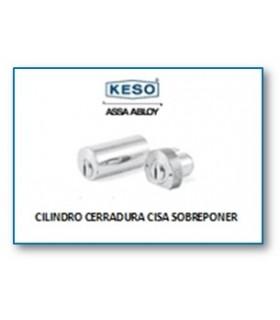 Cilindro Alta Seguridad Cerradura Cisa Sobreponer 4000Ω Master, Cromo,KESO