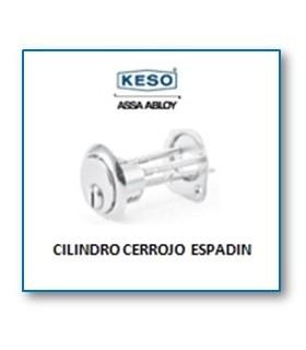 Cilindro Alta Seguridad cerrojo de espadín 4000Ω Master, Cromo,KESO