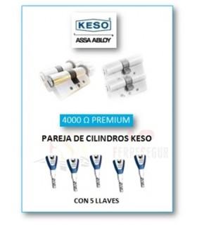 Pareja de Cilindros Alta Seguridad 4000Ω Premium, KESO