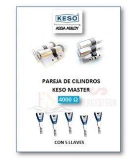 Pareja de Cilindros Alta Seguridad 4000Ω Master, KESO
