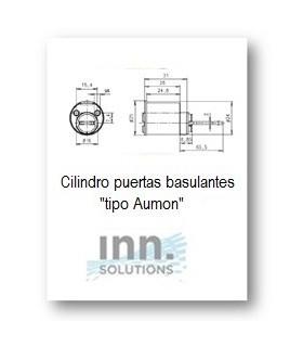 Cerraduras redondo espadin p/basculantes tipo aumon,INN Key Smart, INN