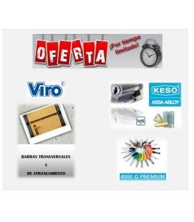 """Kit Barra transversal  mecánica """"Spranga"""" con cilindro Keso Premiun  VIRO,KEso"""
