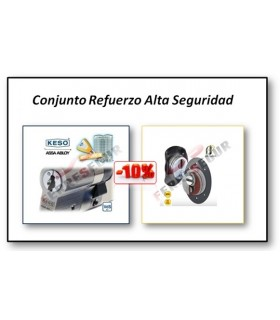 KIT PLUS Cilindro Alta Seguridad KESO Premium + Escudo F23Top Azzi