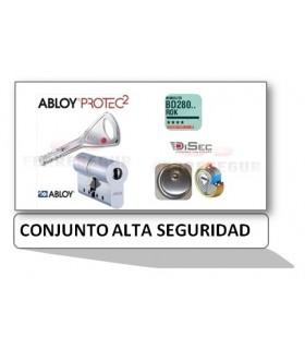 Kit Cilindro Alta seguridad Protec 2 con Escudo Rok , Abloy/Disec