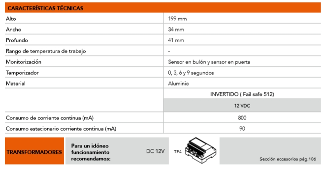 DORCAS CERRADURA ELECTROPISTON V11.