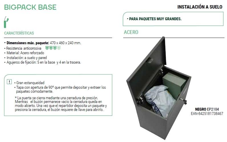 arregui buzón paqueteria bigpack base