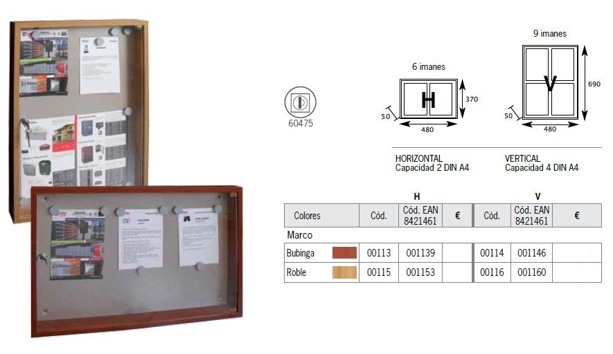 btv tablón anuncios modelo madera .