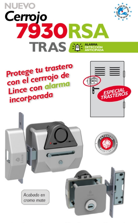 LINCE/LINCE CERROJO TRASTERO CON ALARMA 7930RSATRAS
