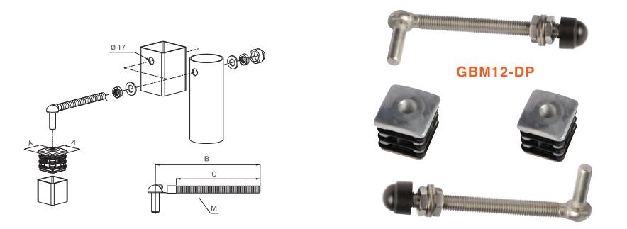 locinox kit bisagra regulable aluminio GBM12_dp