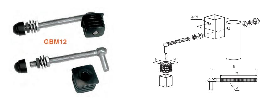 locinox kit bisagra regulable nylon