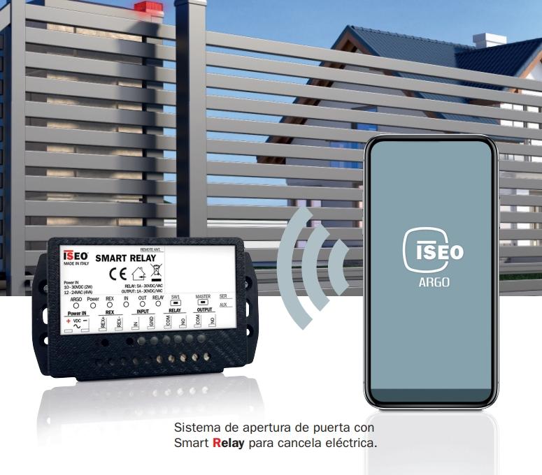 iseo smart relay sistema de apertura remoto argo