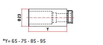 sag recargo longitud cilindro cerrojos