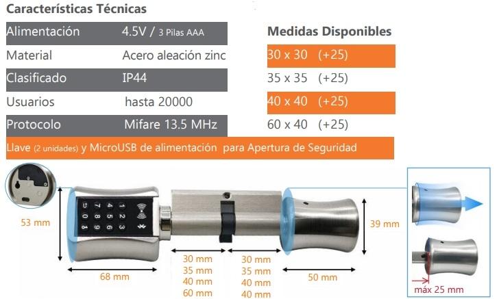 REMOCON Cilindro Electrónico CIEL