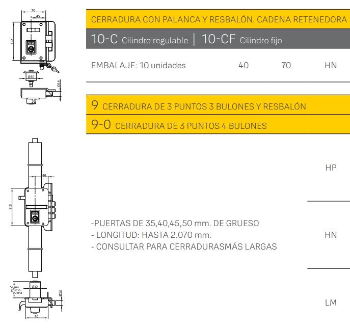 azbe cilindro reposicion yl6