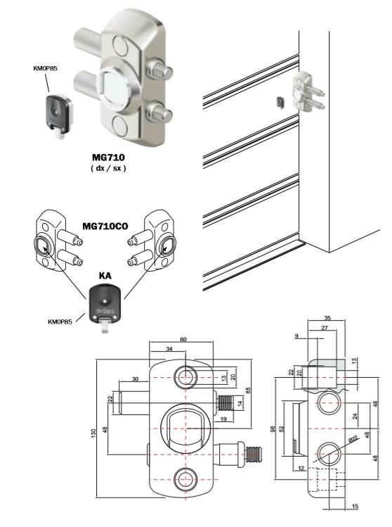 DISEC CERROJO MAGNETICO MG710 PUERATS GARAGE