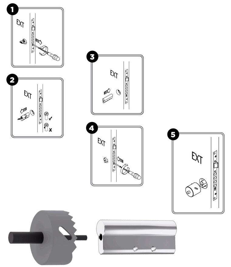 cilindro guia centrador