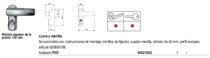 /iseo dispositivos externos PVD